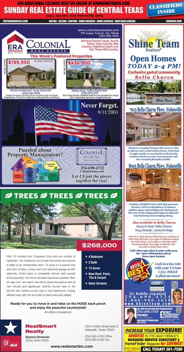 Sunday Real Estate Guide 9/11/16 SREG