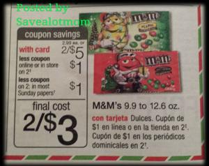 $1.50 per Bag of Holiday M&Ms at Walgreens!