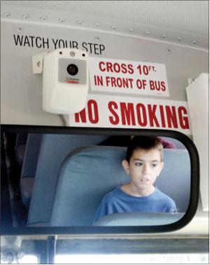 Students learn to ride the bus