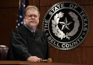 CPS Court Judge: Judge Charles Van Orden poses in the Child Protective Services Court in Belton. Van Orden handles all the child custody cases in Bell and Burnet counties. - Jaime Villanueva | Herald