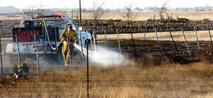 Strong winds fuel fires across Texas