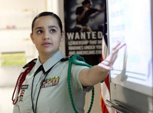 JROTC Cadet Inspection