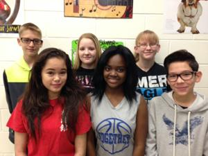 <p>Fourteen Copperas Cove Independent School District junior high school students qualified for the Region 8 All-Region Choir and will perform Saturday at Killeen High School. Cove Junior High students who qualified are, from left in back, Spencer Martinez, Samantha Moore and Alyssa Rulison and, from left in front, Gabrielle Aterado, N'Kya Smith and Brelan Lofton.</p>
