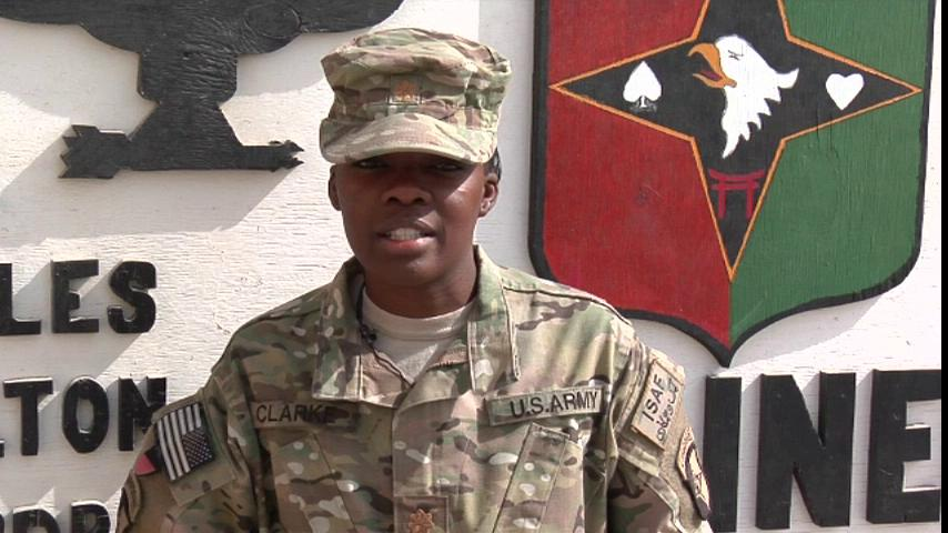 Maj. Natasha Clarke's Thanksgiving message