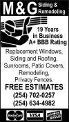 M & G Siding & Remodeling | 254-634-4982 | Killeen
