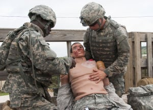 Caesar brings reality to the combat life saver course