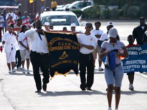 Celebratory parade
