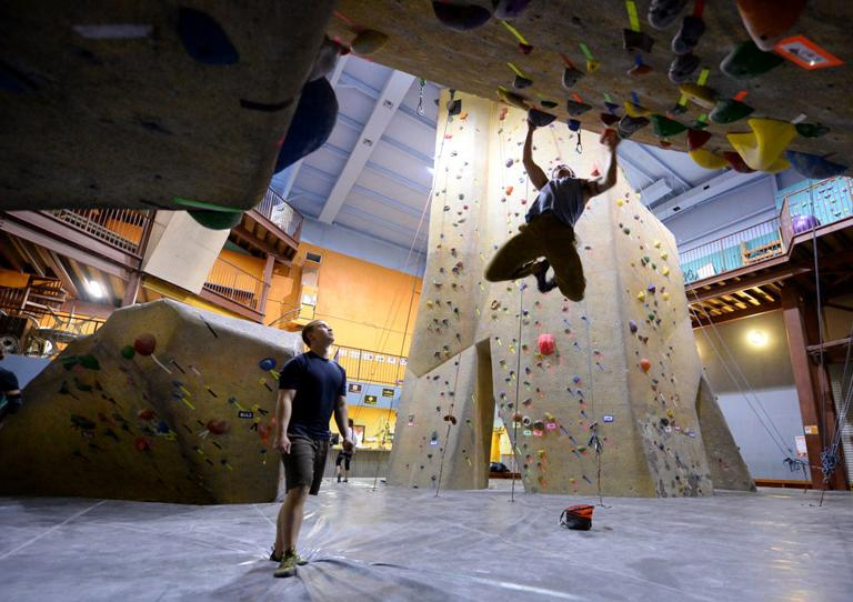 Hitting  the wall: Climbing offers fitness at any age