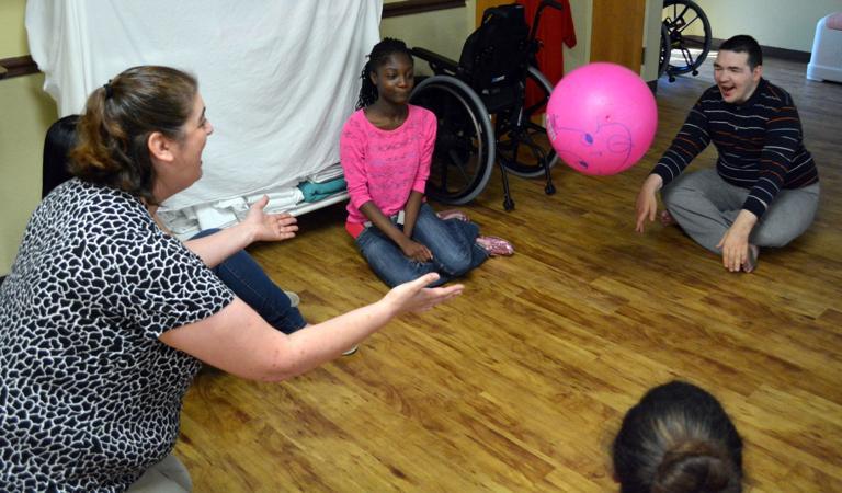 Students visit nursing center