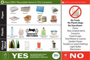 Recyclable items at Fort Hood
