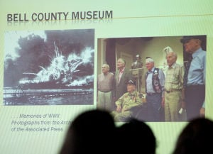 Killeen Leadership Visit: A slide from the Bell County Museum is presented during the Greater Killeen Chamber of Commerce Killeen Leadership visit Wednesday, Nov. 13, 2013, at Killeen City Hall. - Herald/CATRINA RAWSON