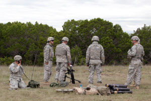 Live Fire Excercise006.jpg: Soldiers from the 3rd Cavalry Regiment take part in a comprehensive live-fire exercise  Friday morning at Fort Hood. - Herald/Jaime Villanueva