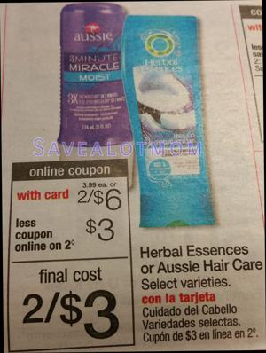 Herbal Essence Hair Care at Walgreens! Save up to 75%!
