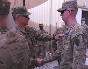Soldiers receive Purple Heart, return to duty in Afghanistan