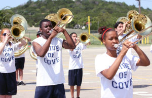 Pride of Cove Band practice underway