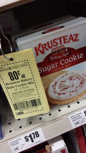 HEB $.98 Krusteaz Sugar Cookie Mix!