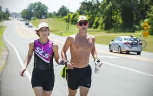 Visually impaired athlete prepares for Ironman triathlon