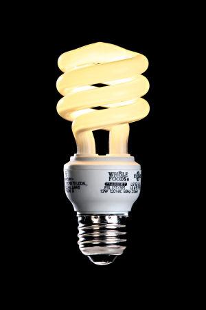 Lightbulbs: A 13-watt 800 Lumens CFL, compact florescent bulb. - Michael Bryant | MCT