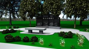 <p>A rendering of the proposed Vietnam War Memorial for the Central Texas State Veterans Cemetery in Killeen by Salado artist Troy Kelley.</p>
