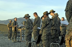 Soldiers, civilians hold Easter service