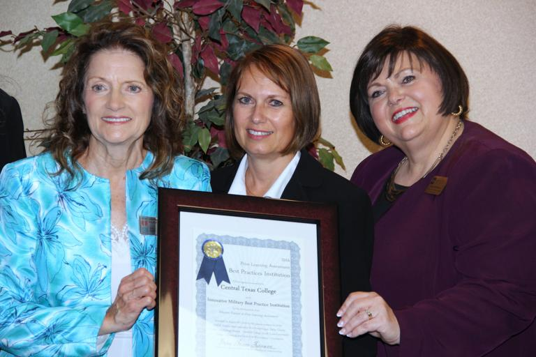 CTC presented PLA Military Best Practice Institution in Texas award