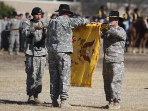 3rd Brigade Combat Team cases colors for Iraq mission