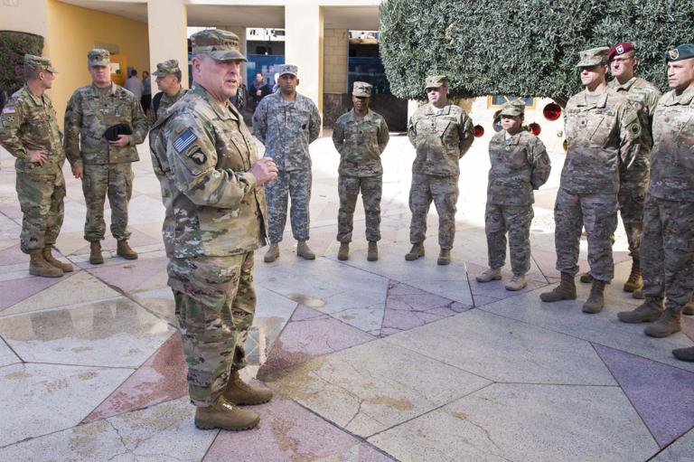 Milley, Dailey pay holiday visit to deployed soldiers