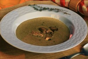 Holiday Soups: Try a cream soup, like this hearty mushroom, for a warm beginning to your holiday meal. - Photo by Ed Suba Jr. | Akron Beacon Journal