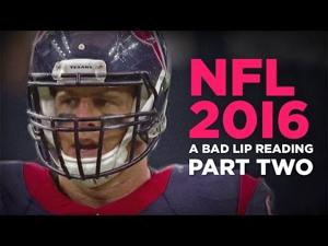 """""""NFL 2016: PART TWO"""" — A Bad Lip Reading of the NFL"""