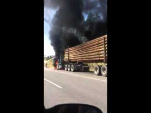 Lake Country truck fire