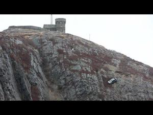 Car towed from cliff on Newfoundland landmark, Signal Hill (April 3)