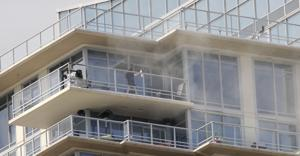 Barbecue fire forces evacuation of Skye building