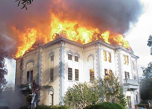 Newton Courthouse Fire