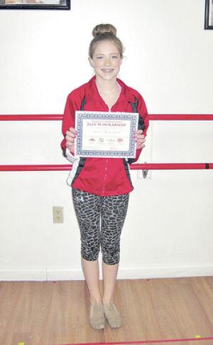 Dancer earns scholarship