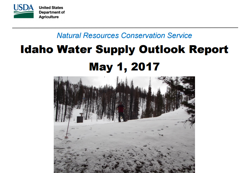 Idaho Water Supply Outlook Report Highlights Record Precipitation Amounts L