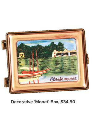 Decorative 'Monet' Box, $34.50