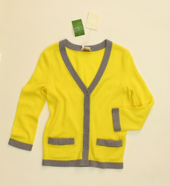 Look 2 cardigan, $278, Kate Spade