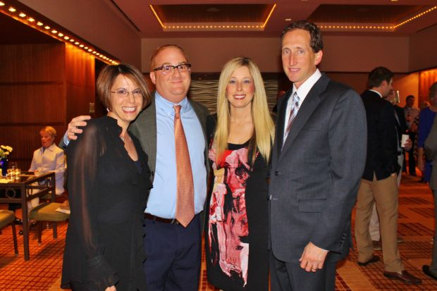 Barbara and David Schurer, Laura and Bryan Rader