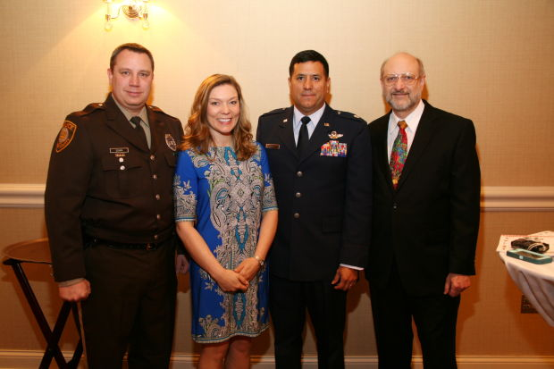 Mike Schira, Tabetha Reece, Lt. Col. Dan Reece, Howard Laiderman