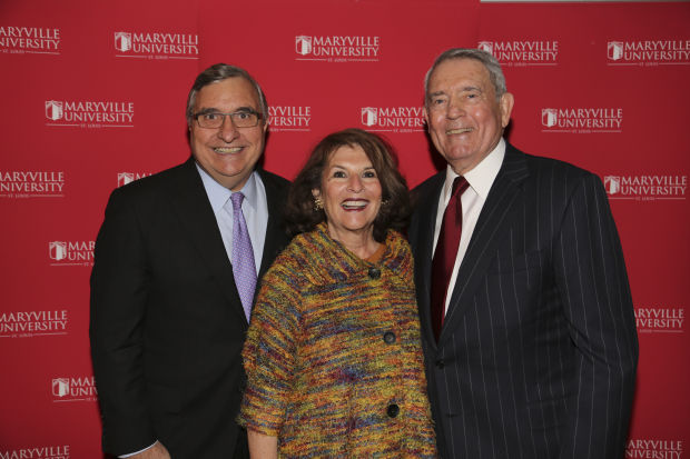 Jack and Rosemary Galmiche, Dan Rather