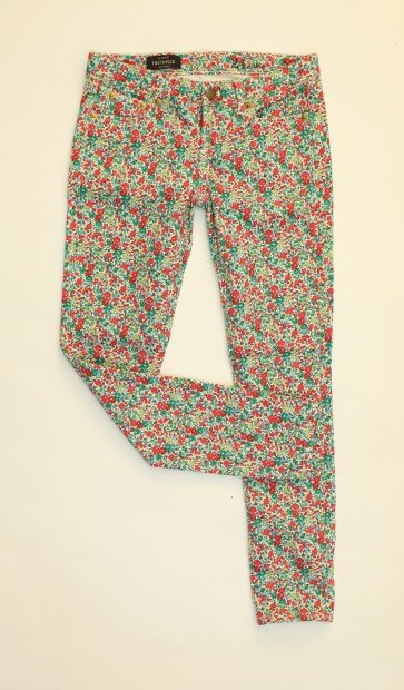 Look 4 liberty print jeans, $150, J.Crew