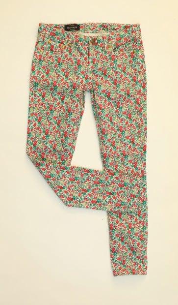 Look 4 liberty print jeans, $150, J.Crew