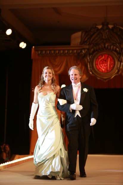 Corrinne Anais Palmer, daughter of Mr. and Mrs. Mark Palmer, escorted by John Capps
