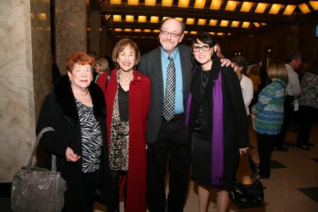 Elaine Koplar, Marilyn Ratkin, Larry Levin, Peggy Dereak