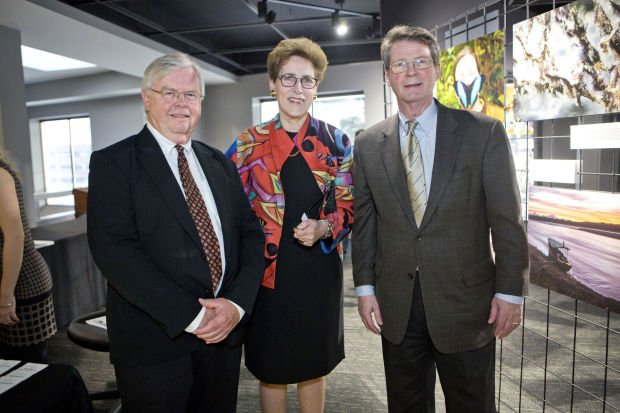 Executive director John Nagel, director of developement Lucy Morros, former mayor Vincent Schoemehl