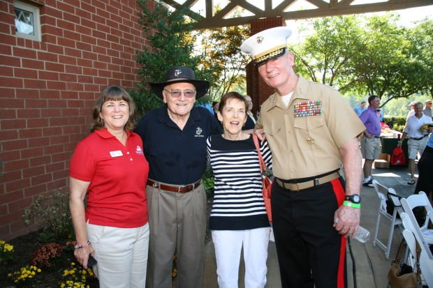 Helen Toolan, Roger and Barbara Sturdevant, LtGen Toolan