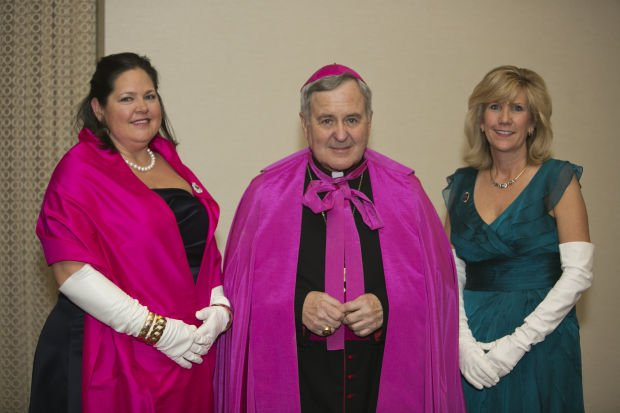 Ball Chair Beth Schmitt, Archbishop Robert Carlson, President Jennifer Wright