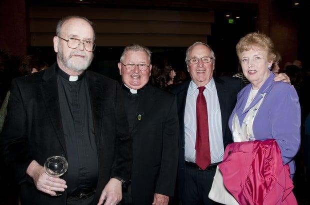 Fr. Jim Beegan, Rev. Martin Mannion, Walter Bisch, Rozalie Manz
