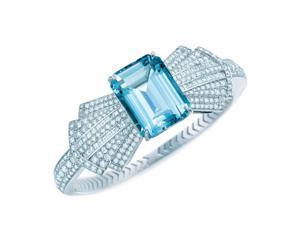 Aquamarine Bow Bracelet
