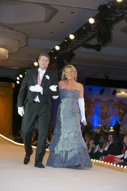 Lady of Honor Mrs. James R. Klinger and her escort, Craig R. Campbell